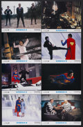 """Movie Posters:Action, Superman II (Warner Brothers, 1980). Lobby Cards (7) (11"""" X 14"""")and British Lobby Card (11"""" X 14""""). Sci-Fi Adventure. Starr...(Total: 8 Items)"""