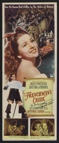 "Movie Posters:Adventure, Frenchman's Creek (Paramount, 1944). Insert (14"" X 36""). Adventure.Starring Joan Fontaine, Arturo de Cordova, Basil Rathbon..."