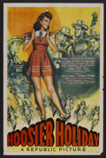 "Movie Posters:Musical, Hoosier Holiday (Republic, 1943). One Sheet (27"" X 41""). Musical. Starring Dale Evans, Isabel Randolph, George Byron and Emm..."