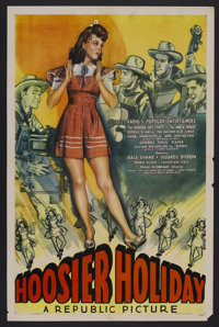 "Hoosier Holiday (Republic, 1943). One Sheet (27"" X 41""). Musical. Starring Dale Evans, Isabel Randolph, George..."