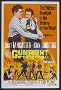 "Movie Posters:Western, Gunfight at the O.K. Corral (Paramount, R-1964). One Sheet (27"" X 41""). Western. Starring Burt Lancaster, Kirk Douglas, Rhon..."
