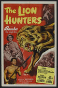 "Movie Posters:Adventure, The Lion Hunters (Monogram, 1951). One Sheet (27"" X 41"") Style A.Adventure. Starring Johnny Sheffield, Morris Ankrum, Ann E..."