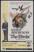 """Movie Posters:Hitchcock, The Birds (Universal, 1963). One Sheet (27"""" X 41""""). With no explanation, birds begin attacking the residents of a seaside to..."""