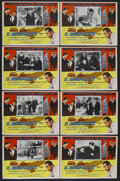 """Movie Posters:Film Noir, The Maltese Falcon (Warner Brothers, R-1950s). Mexican Lobby Card Set of 8 (13"""" X 16.5""""). Film Noir. Starring Humphrey Bogar... (Total: 8 Item)"""