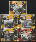 """Movie Posters:Crime, The Roaring Twenties (Warner Brothers, R-1940s). Mexican Lobby Cards (5) (13"""" X 16.5""""). Crime. Starring Humphrey Bogart, Jam... (Total: 5 Item)"""