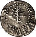 Colonials: , 1652 3PENCE Pine Tree Threepence XF40 PCGS. Pellets at trunk. Noe-34, Crosby 1-A1, R.4. 17.1 grains. A slate-gray and silve...