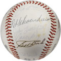 Autographs:Baseballs, 1980 St. Louis Cardinals Team Signed Baseball. Here we offer acollection of 24 signatures from the 1980 Redbirds as they e...