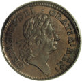 Colonials: , 1723 1/2P Hibernia Specimen Halfpenny SP65 Brown PCGS. No stopbefore H, stop after date. Breen-157. 8.07 grams. Intricatel...