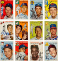 Autographs:Sports Cards, Signed 1954 Topps Baseball Card Collection (30). ...
