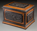 Decorative Arts, Continental, A French Renaissance Revival Oak Cigar Humidor Reportedly Owned byEmperor Maximilian I of Mexico, circa 1860. Marks: MAIS...