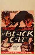 "Movie Posters:Horror, The Black Cat (Universal, 1934). Window Card (14"" X 22"").. ..."