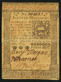 Colonial Notes:Pennsylvania, Pennsylvania October 1, 1773 15s Extremely Fine-About New.. ...