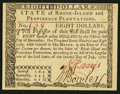 Colonial Notes:Rhode Island, Rhode Island July 2, 1780 $8 New.. ...