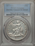 Trade Dollars: , 1877-CC T$1 -- Cleaning -- PCGS Genuine. XF Details. NGC Census:(8/107). PCGS Population: (25/156). CDN: $1,050 Whsle. Bid...