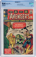 Silver Age (1956-1969):Superhero, The Avengers #1 (Marvel, 1963) CBCS NM 9.4 Off-white to white pages....