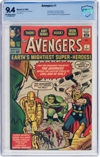 The Avengers #1 (Marvel, 1963) CBCS NM 9.4 Off-white to white pages