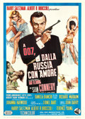 "Movie Posters:James Bond, From Russia with Love (United Artists, 1964). Italian 4 - Fogli(55"" X 78"") Renato Fratini and Eric Pulford Artwork.. ..."