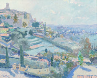 Pierre Bittar (French/American, b. 1934) St. Paul de Vence Oil on canvas 32 x 39-1/2 inches (81.3