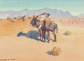 Fine Art - Work on Paper:Watercolor, Leonard Howard Reedy (American, 1899-1956). The Prospector.Watercolor on paper. 7-1/4 x 10-1/4 inches (18.4 x 26.0 cm) ...
