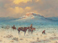 Fine Art - Painting, American, Barbara Garvin (American, b. 1936). The Lost Trail, 1970.Oil on canvas. 18 x 24 inches (45.7 x 61.0 cm). Signed lower l...
