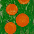 Fine Art - Work on Paper:Print, Donald Sultan (b. 1951). Four Oranges, 1993. Serigraph incolors on paper. 37-7/8 x 36 inches (96.1 x 91.4 cm) (sheet). ...