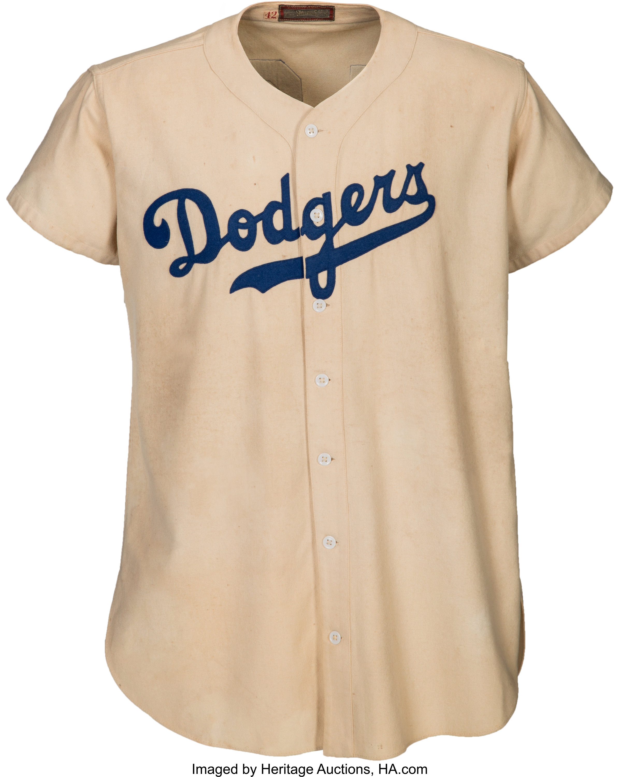 size 40 0788f 7aa2a 1947 Jackie Robinson Game Worn Brooklyn Dodgers Rookie ...