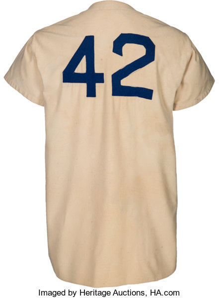 size 40 b074a 20bca 1947 Jackie Robinson Game Worn Brooklyn Dodgers Rookie ...