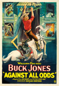 "Movie Posters:Western, Against All Odds (Fox, 1924). One Sheet (28"" X 41"").. ..."