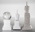 Fine Art - Sculpture, European:Contemporary (1950 to present), Maurizio Cattelan (b. 1960). L.O.V.E. -Sculpture, L.O.V.E.Snowball, and L.O.V.E. - Carrillon, 2014-15. Concrete(Sc... (Total: 3 Items)