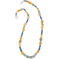 Estate Jewelry:Necklaces, Sapphire, White Metal Necklace. ...