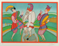 Fine Art - Work on Paper:Print, Mihail Chemiakin (Russian, b. 1943). Suite of Four CarnivalScenes. Lithographs in colors on paper. 28 x 20 inches (71.1...(Total: 4 Items)