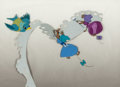 Animation Art:Production Cel, Cinderella Bird and Seamstress Mice Production Cel (WaltDisney, 1950). ...