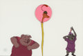 Animation Art:Production Cel, Robin Hood Sir Hiss and Others Production Cel (Walt Disney,1973). ...