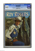 Golden Age (1938-1955):Western, Four Color #38 Roy Rogers -- File Copy (Dell, 1944) CGC VG+ 4.5 Cream to off-white pages. First Western comic with photo cov...