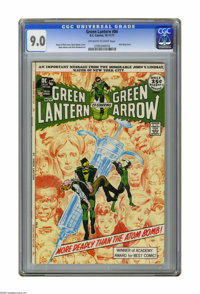Green Lantern #86 (DC, 1971) CGC VF/NM 9.0 Off-white to white pages. Anti-drug issue. Neal Adams cover and art. Backup f...