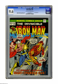 Iron Man #66 (Marvel, 1974) CGC NM+ 9.6 Off-white to white pages. Thor appearance. Gil Kane cover. George Tuska and Mike...