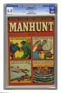 Golden Age (1938-1955):Crime, Manhunt #7 Rockford pedigree (Magazine Enterprises, 1948) CGC FN 6.0 Off-white pages. Space Ace ends in this issue. L. B. Co...