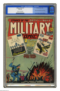 Military Comics #3 (Quality, 1941) CGC VG 4.0 Off-white to white pages. Origin and first appearance of Chop-Chop. Chuck...