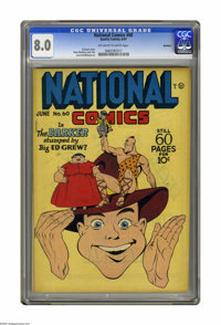 National Comics #60 Rockford pedigree (Quality, 1947) CGC VF 8.0 Off-white to white pages. Al Bryant cover. Klaus Nordli...