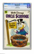 "Golden Age (1938-1955):Funny Animal, Uncle Scrooge #7 File Copy (Dell, 1954) CGC VG+ 4.5 Off-whitepages. ""Seven Cities of Cibola"" story and art by Carl Barks. O..."