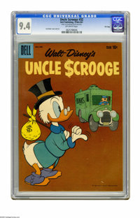 Uncle Scrooge #32 File Copy (Dell, 1960) CGC NM 9.4 Off-white pages. Carl Barks cover and art. Overstreet 2005 NM- 9.2 v...