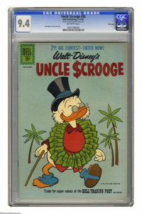 Uncle Scrooge #35 File Copy (Dell, 1961) CGC NM 9.4 Off-white pages. Carl Barks cover and story. Overstreet 2005 NM- 9.2...