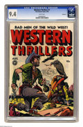 Golden Age (1938-1955):Western, Western Thrillers #1 Vancouver pedigree (Fox Features Syndicate,1948) CGC NM 9.4 White pages. All-women outlaws issue. This...