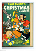 Golden Age (1938-1955):Miscellaneous, Dell Giant Comics Bugs Bunny's Christmas Funnies #1-4 Bound Volume (Dell, 1950-53). These are Western Publishing file copies...