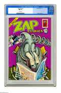 Bronze Age (1970-1979):Alternative/Underground, Zap Comix #6 (Apex Novelties, 1973) CGC NM 9.4 White pages. Gilbert Shelton cover and story art. Interior art by Robert Will...