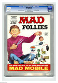 Golden Age (1938-1955):Horror, Mad Follies #4 Gaines File pedigree (EC, 1966) CGC NM- 9.2Off-white to white pages. Includes Mad mobile. Bob Clarke covera...