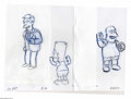 "Original Comic Art:Miscellaneous, The Simpsons - ""Bart, Principal Skinner, Edna Krabappel, NedFlanders, and Kearney"" Preliminary Animation Drawings OriginalAr... (Total: 5 Items)"