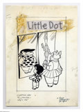 Original Comic Art:Covers, Marty Taras - Little Dot #10 Cover Original Art (Harvey, 1955).Little Dot and her big-boned gal pal, Little Lotta, make mer...