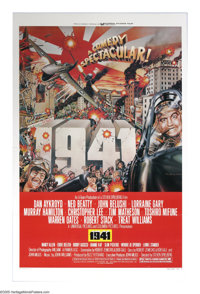 "1941 (Columbia, 1979). One Sheet (27"" X 41""). ""This isn't the state of California, it's a state of insani..."