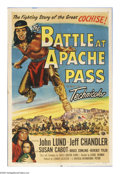 """Movie Posters:Western, The Battle at Apache Pass (Universal International, 1952). One Sheet (27"""" X 41""""). Two of the cast members from the 1950 West..."""